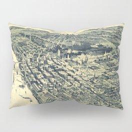Vintage Map of St. Paul MN (1893) Pillow Sham