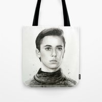 wesley bird Tote Bags featuring Wesley by Olechka