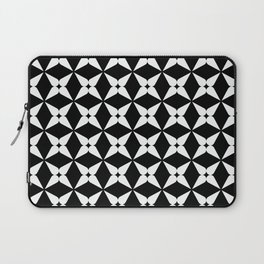 Geometric Pattern 247 (white crosses) Laptop Sleeve