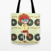 indie Tote Bags featuring Indie Girl by Irene Dose