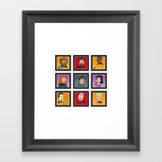 The Family Star Trek Bunch: Next Generation Framed Art Print