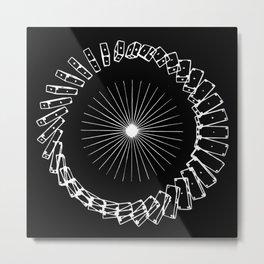 Magnetism Metal Print