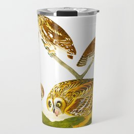 Burrowing Owl Illustration Travel Mug