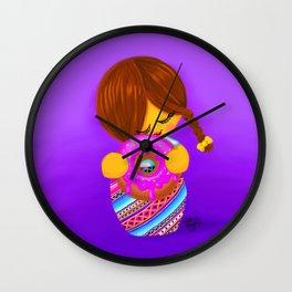 Donut Kokeshi Wall Clock