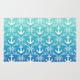 Nautical Knots Ombre Rug