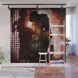 Wonderful steampunk lady Wall Mural