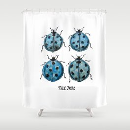 Blue Marie Shower Curtain