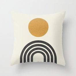 Mid century modern gold Throw Pillow