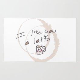 I Like You A Latte Rug