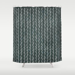 Grapevine - black Shower Curtain
