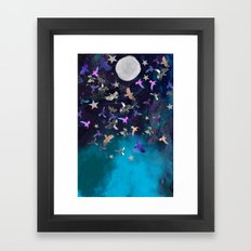 Midnight Birds Framed Art Print