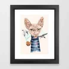 Sphynx Cat II Framed Art Print