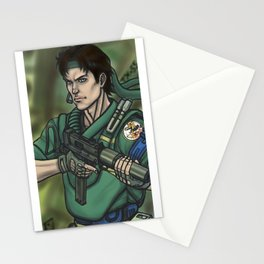 Young Solid Snake Stationery Cards
