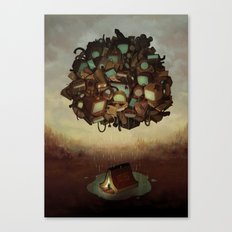 Clever Camping Canvas Print