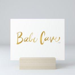 Babe Cave Mini Art Print