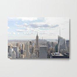 Manhattan skyline view Metal Print
