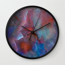 Colorful watercolor abstraction II Wall Clock