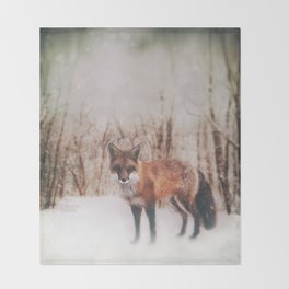 Winter Visitor Throw Blanket