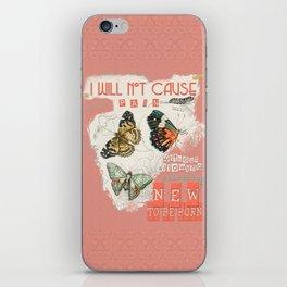 ISAIAH 66:9  Abstract Scripture Collage Art Butterflies Bible Verse iPhone Skin