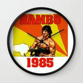 Rambo 1985 Wall Clock