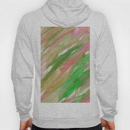 Pink green brown watercolor hand painted brushstrokes Hoody