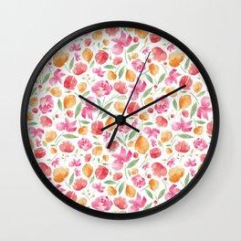 Japanese Summer Blossoms Wall Clock