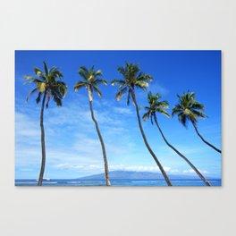 Maui Palm Trees Canvas Print