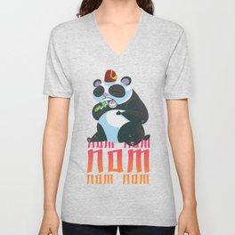 Nom Nom Panda Unisex V-Neck