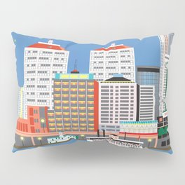 Louisville, Kentucky - Skyline Illustration by Loose Petals Pillow Sham