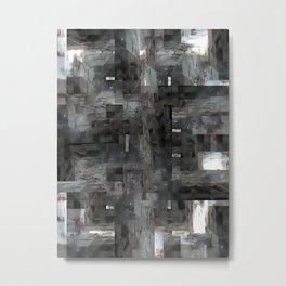 The visual equivalent of using windows as doorways, or vice versa? 4/4 Metal Print