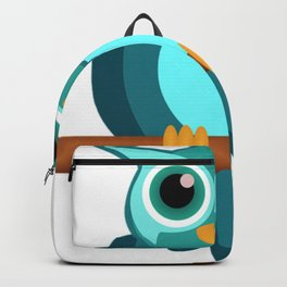 Blue Chibi Owl Backpack