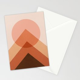 Abstraction_Sunset_Modernism_Minimalism_001 Stationery Cards