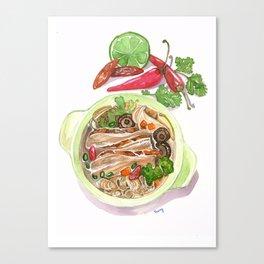 Asian grilled duck noodle Canvas Print