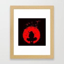 Itachi Uchiha Sadow of Red Framed Art Print