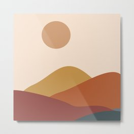 Brown moon Metal Print