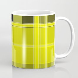 Yellow and Black Plaid Coffee Mug