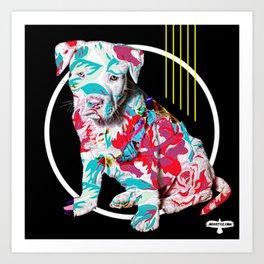 BRAD PITT-BULL Art Print