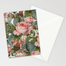 Floral roses pattern Stationery Cards