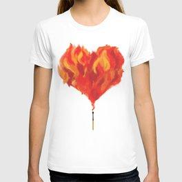 fire heart T-shirt