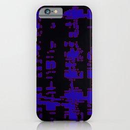 jitter, black blue, 3 iPhone Case