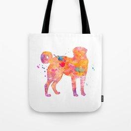 Akbash Dog Watercolor Orange Pink Abstract Tote Bag