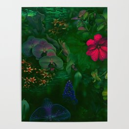 Gathering of Flowers - [Green Version] Poster