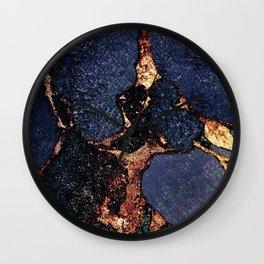 GEMSTONE & GOLD INDIGO Wall Clock