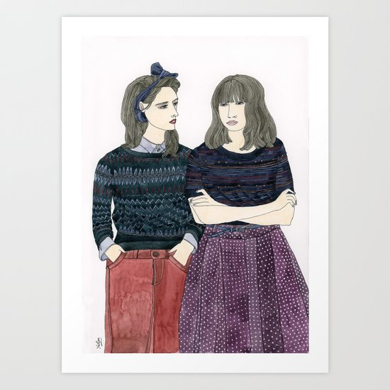 Sessun Girls Art Print