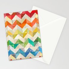 Chevron Rainbow Quilt Stationery Cards