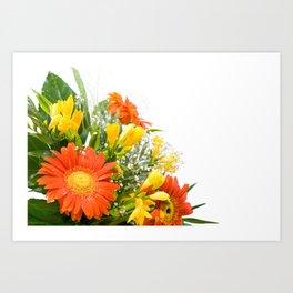 Arranged wedding handheld bouquet Art Print