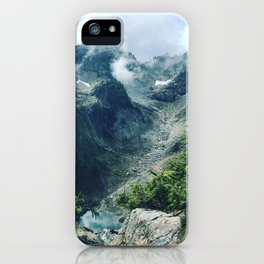 Mountain through the clouds iPhone Case