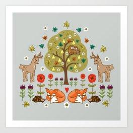 Woodland Wild Things Art Print
