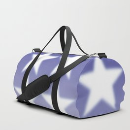 Blue and White Stars, Blue Faded Background With White Stars Duffle Bag