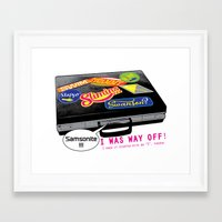 "dumb and dumber Framed Art Prints featuring ""...Samsonite! I was way off!"" - Dumb and Dumber by Panda McFan"